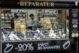 Goldhändler im türkisch geprägten Viertel