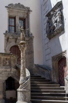 Treppe am Rathaus