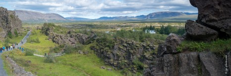 Erdspalte in Thingvellir
