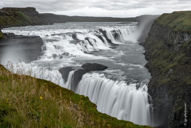 Gullfoss Wasserfall am Vormittag