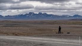 Kjölur-Piste mit Blick auf den Langjökull-Gletscher
