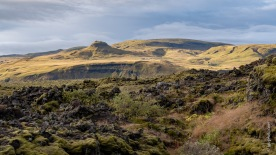 Lavafelder in der Nähe der Stadt Kirkjubaejarklaustur