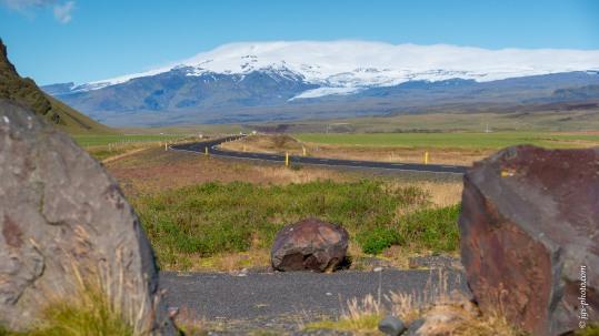 Blick auf den Eyjafjallajökull-Gletscher