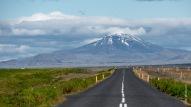 Hekla-Vulkan (Zentralvulkan einer 40 km langen Vulkanspalte im Süden Islands)