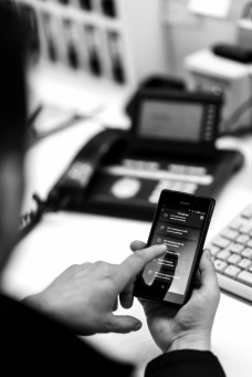 Eine spezielle App hilft, die Kontrollgänge zu registrieren.